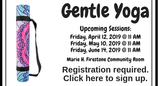 Gentle Yoga - Click to sign up.