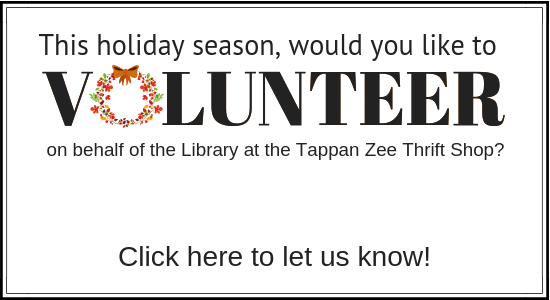 Sign up to volunteer at the Tappan Zee Thrift Shop.