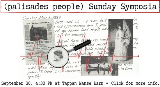 Sunday Symposia on Sept 30, 4:30 pm at the Tappan Manse Barn